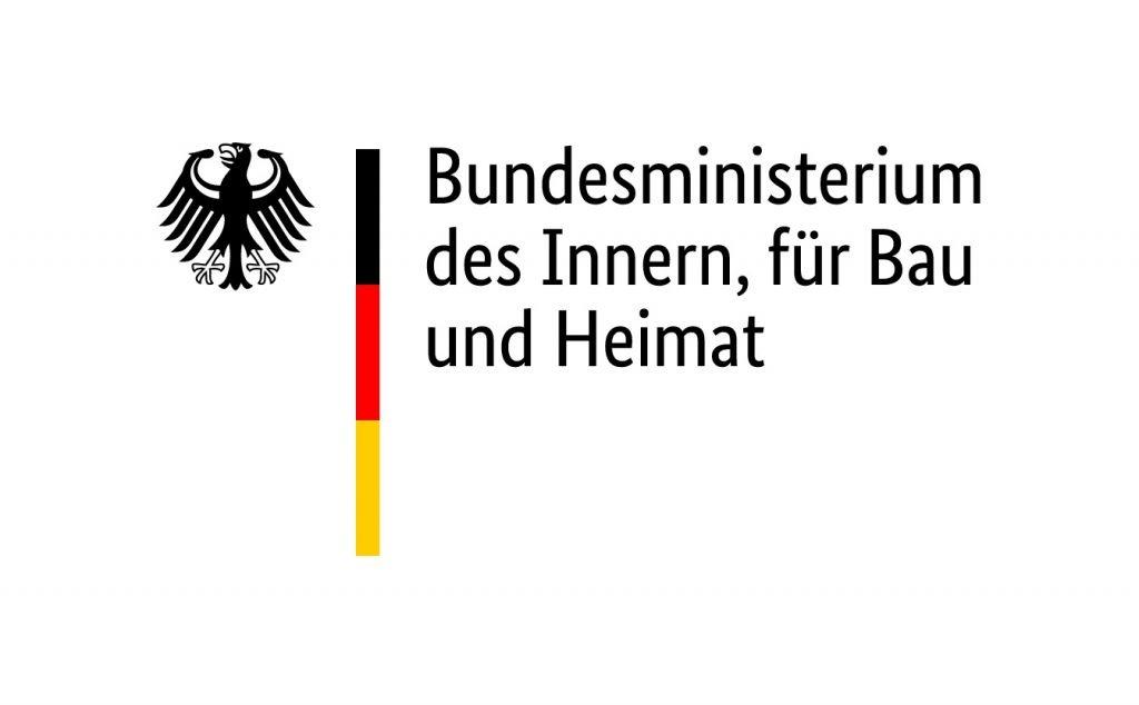 Logo des Bundesministeriums des Innern, für Bau und Heimat.
