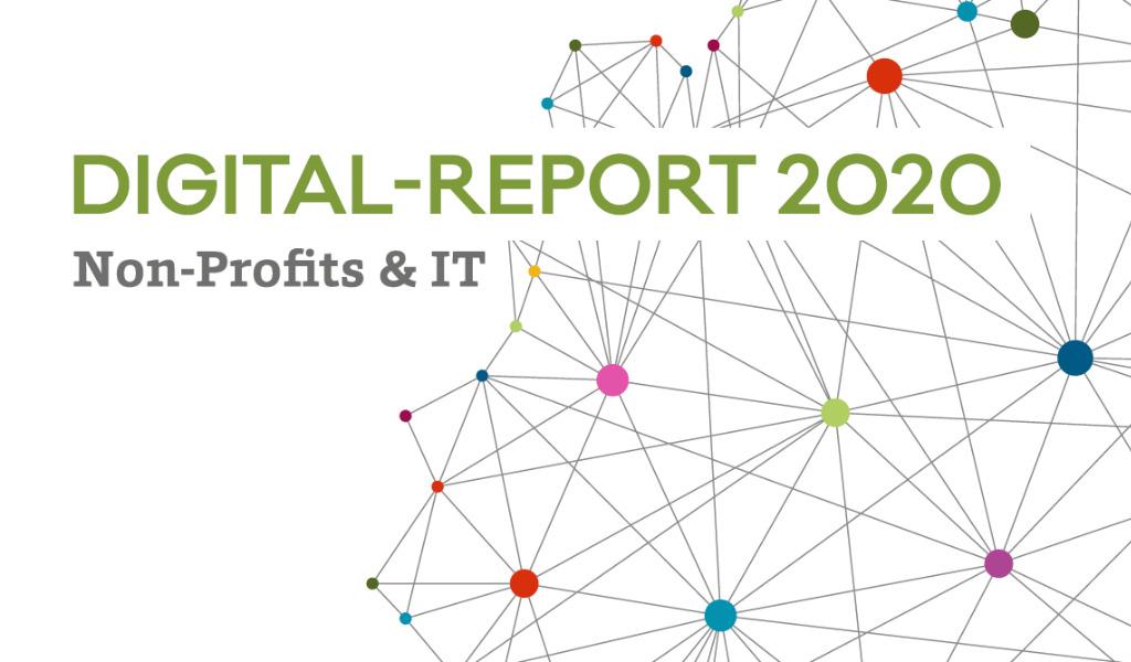 Neuronales Netz, darüber steht: Digital Report 2020, Non Profits und IT