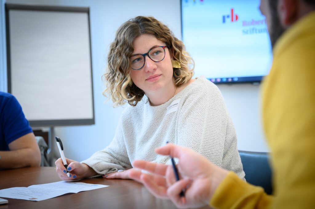 Mareen Reissig beim Workshop von Die Verantwortlichen Digital.