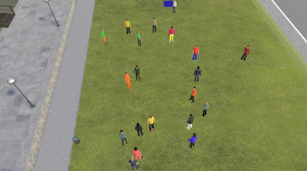 Geografische Aufstellung: Screenshot aus der VRExplorer-Veranstaltung in TriCAT.