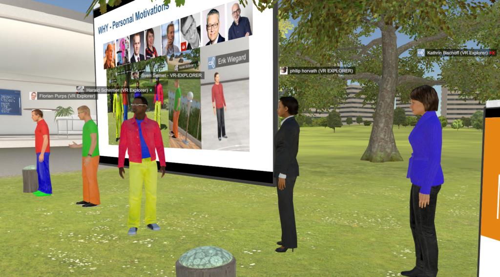 Screenshot aus TriCat: Vorstellung der Verantwortlichen