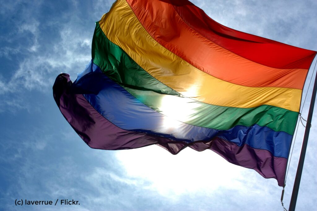Foto einer Regenbogenfarbe.