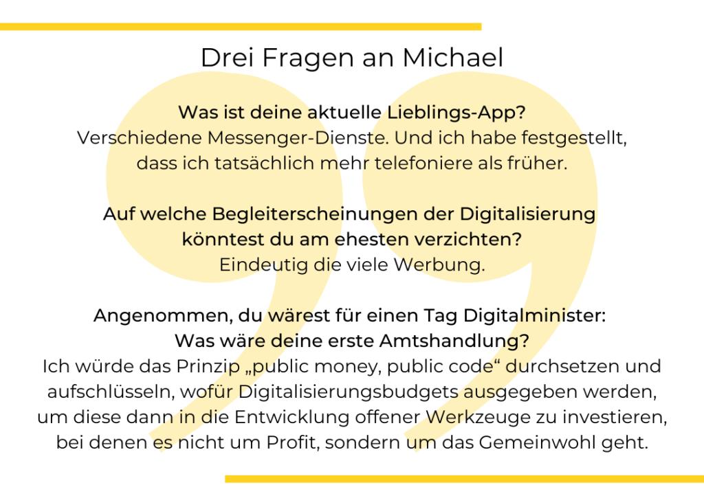 Textgrafik. Drei Fragen an Michael Mischke von WECHANGE.