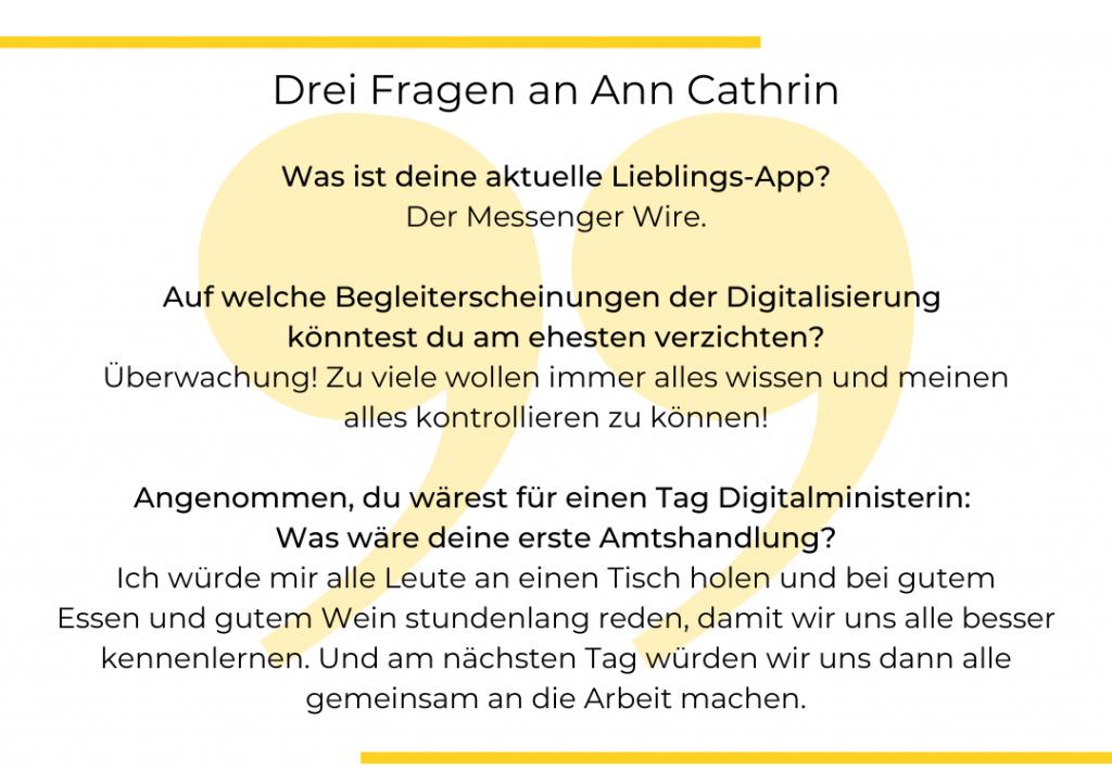 Textgrafik. Drei Fragen an Ann Cathrin Riedel.
