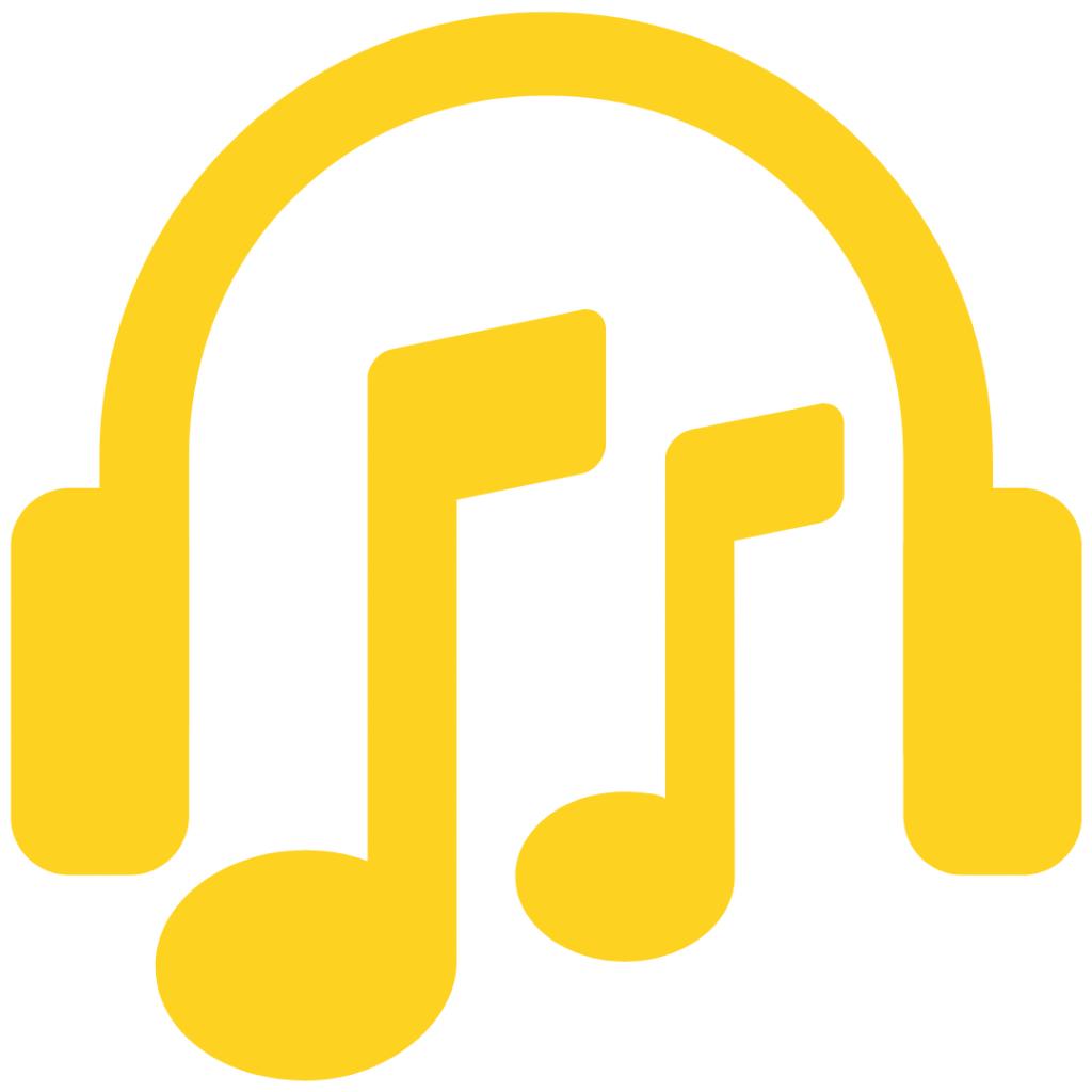 Symbolbild: Kopfhörer und Musiknoten