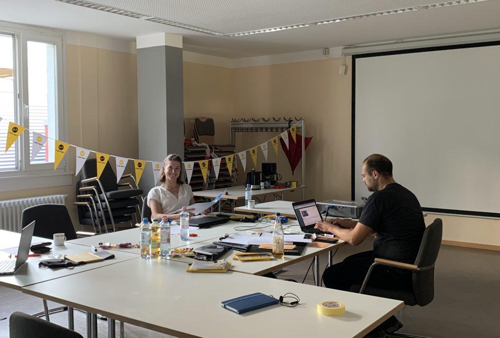 Das Team vom Berliner TSC bei seiner LEvel up! Herausforderung.