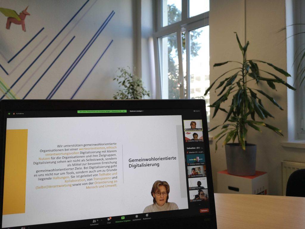Barcamp #Digitalstrategie. Screenshot von Referentin Susanne Saliger, die den Code of good (Beratungs-)practice vorstellt.
