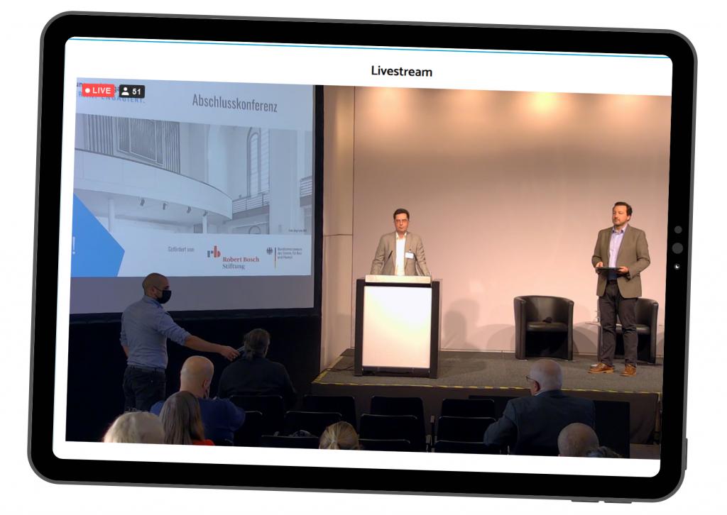 Livestream Forum Digitalisierung und Egagement